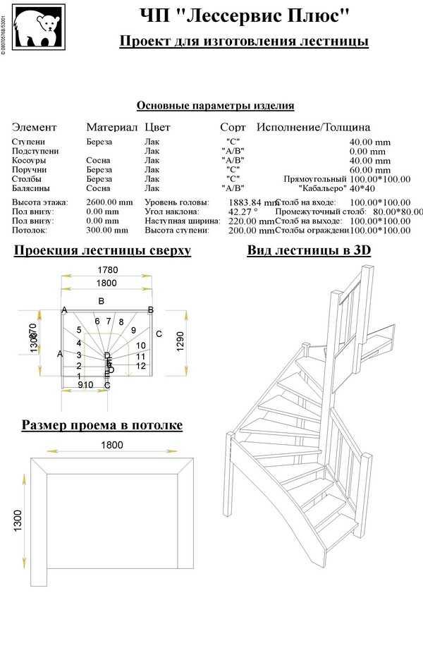 Договор на монтаж лестниц
